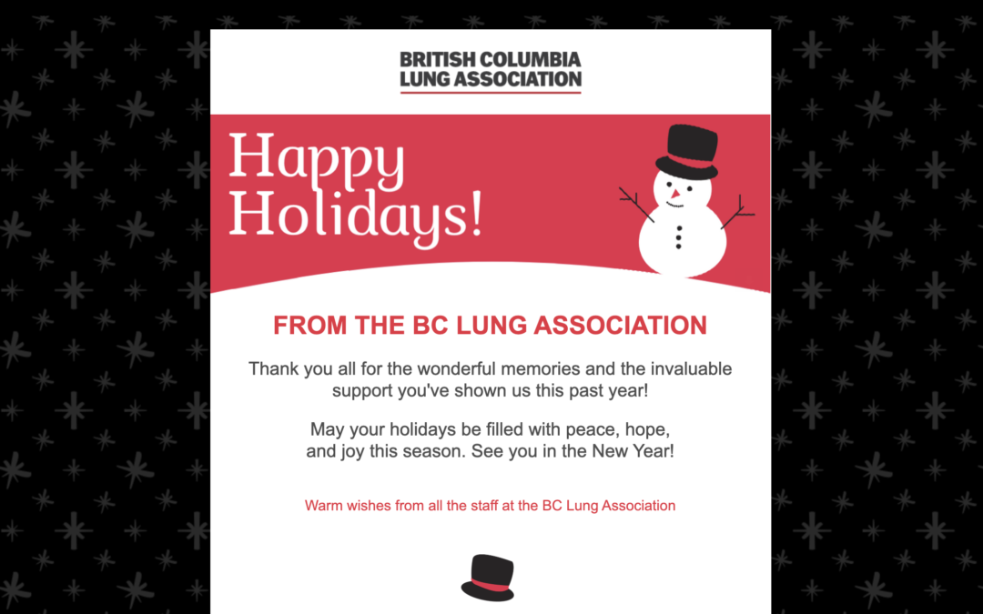 Coastal Sleep is proud to sponsor the British Columbia Lung Association